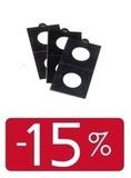 ЧЕРНЫЕ холдеры самоклеющиеся, D от 17,5 до 39,5 мм