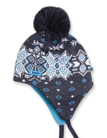 Картинка шапка-ушанка Kama A66 Graphite