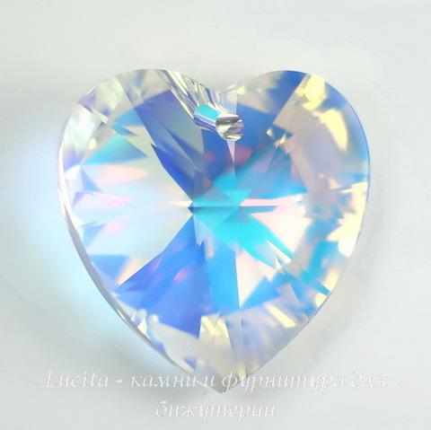 6228 Подвеска Сваровски Сердечко Crystal AB (40 мм)