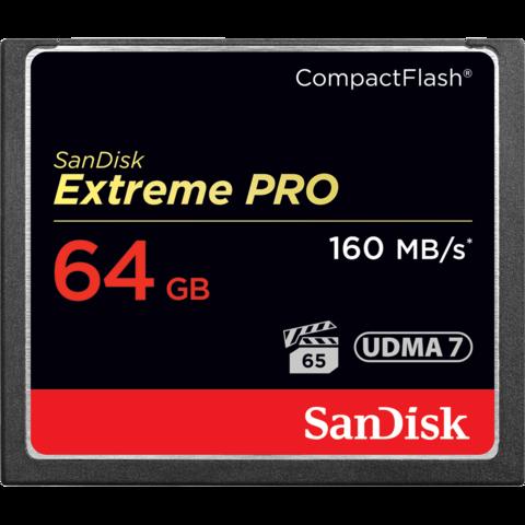 Карта памяти SanDisk CF Extreme Pro 64 Gb 160 Mb/s