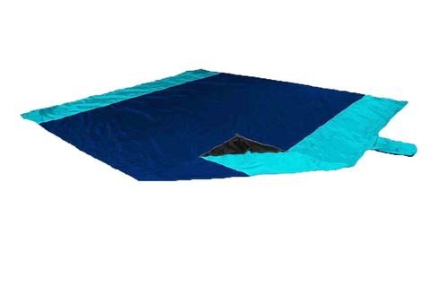 Картинка пляжное покрывало Ticket to the Moon Beach Blanket Navy/Turquoise