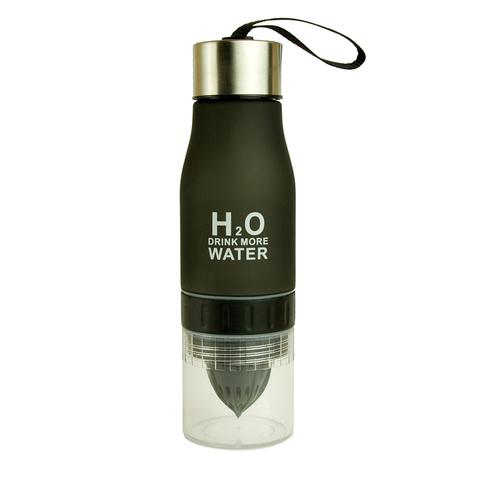Бутылка с соковыжималкой H2O черная