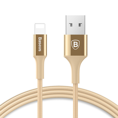 Кабель Baseus Shining Cable with Jet metal 1M Gold