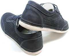 Синие кроссовки на тонкой подошве Vitto Men Shoes 3560 Navy Blue.