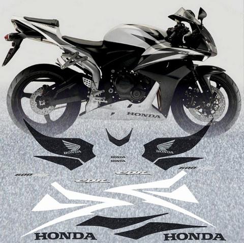 Набор виниловых наклеек на мотоцикл HONDA CBR 600RR 2007