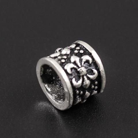 Бусина Флер де Лис 7х9 мм серебро 925