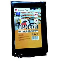 Мешки для мусора на 200 литров Концепция Быта Профи черные (65 мкм, в пачке 5 штук, 90x130 см)