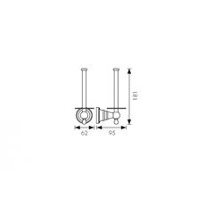 Держатель для туалетной бумаги KAISER Arno KH-2220 схема