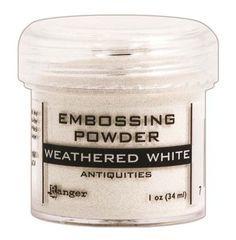Пудра для эмбоссинга Ranger Ink- Weathered White    Antiquities