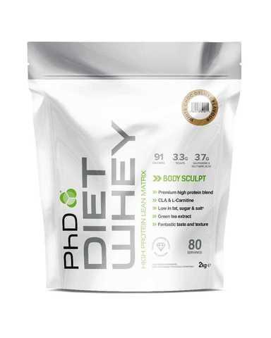 PhD Diet Whey, диетическая протеиновая смесь, вкус Белый Шоколад, 2 кг.