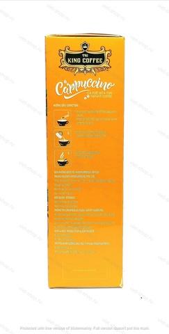 Вьетнамский растворимый кофе Капучино Французская Ваниль, King Coffee, 12 стиков.