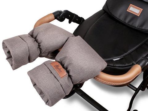 Markus. Меховые варежки для коляски Mitt Limited, коричневые