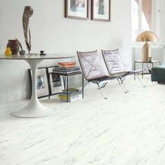 ПВХ плитка, кварц виниловый ламинат Quick Step Ambient Rigid Click Мрамор каррарский белый RAMCL40136