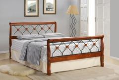 Кровать MK-5229-RO 200x90 (MK-5229-RO) Темная вишня