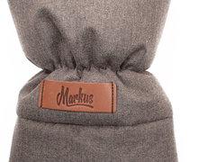 Markus. Меховые варежки для коляски Mitt Limited, коричневые вид 2