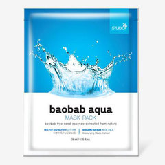 Bergamo Baobab Aqua Mask Pack - Маска тканевая для лица с экстрактом баобаба
