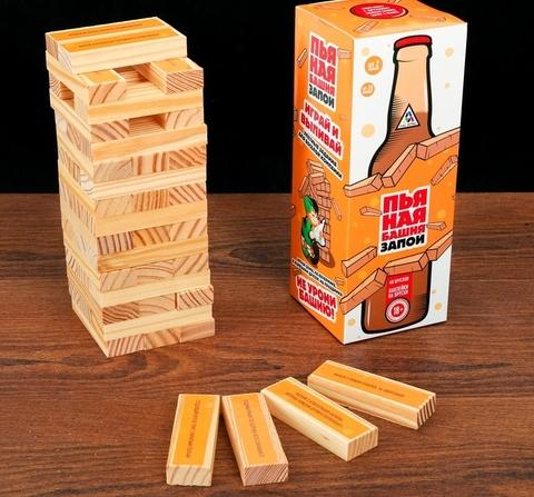 Настольная игра «Пьяная башня. Запой», 54 бруска
