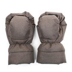 Markus. Меховые варежки для коляски Mitt Limited, коричневые вид 3