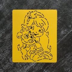 Трафарет №13 Девочка с щенком