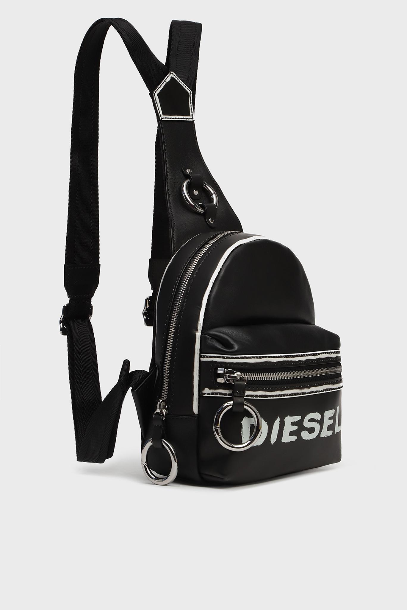 Женский черный кожаный рюкзак MISS-MATCH / ZANE' Diesel