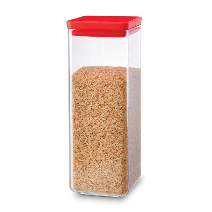 Прямоугольный контейнер (2,5 л), Красный, арт. 290046 - фото 1