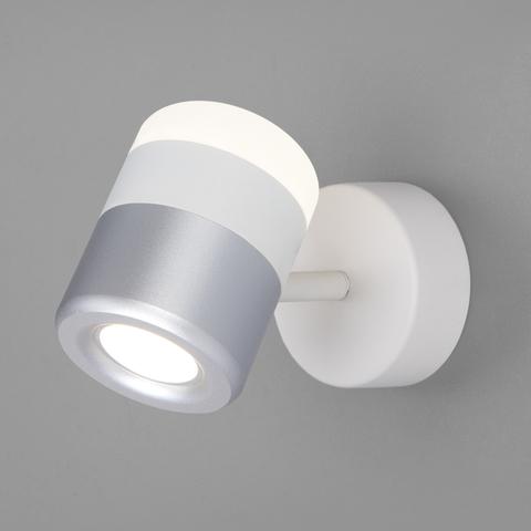Настенный светодиодный светильник 20165/1 LED белый/серебро
