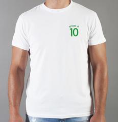 Футболка с принтом Неймар (Neymar) белая 007