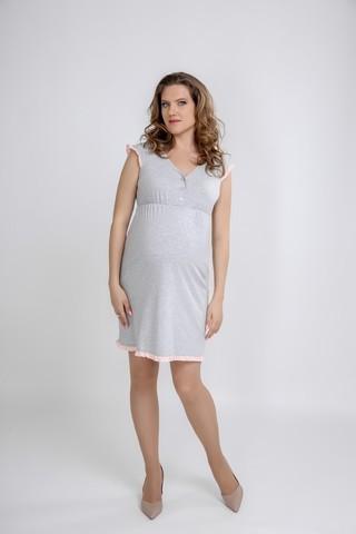Ночная сорочка для беременных и кормящих 09557 меланж