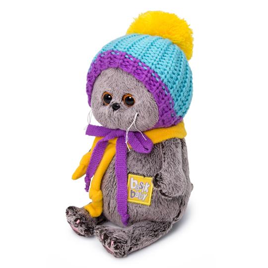 Кот Басик Baby в вязаной шапке