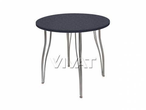 Стол обеденный круглый LС (ОС-12) Черный камень