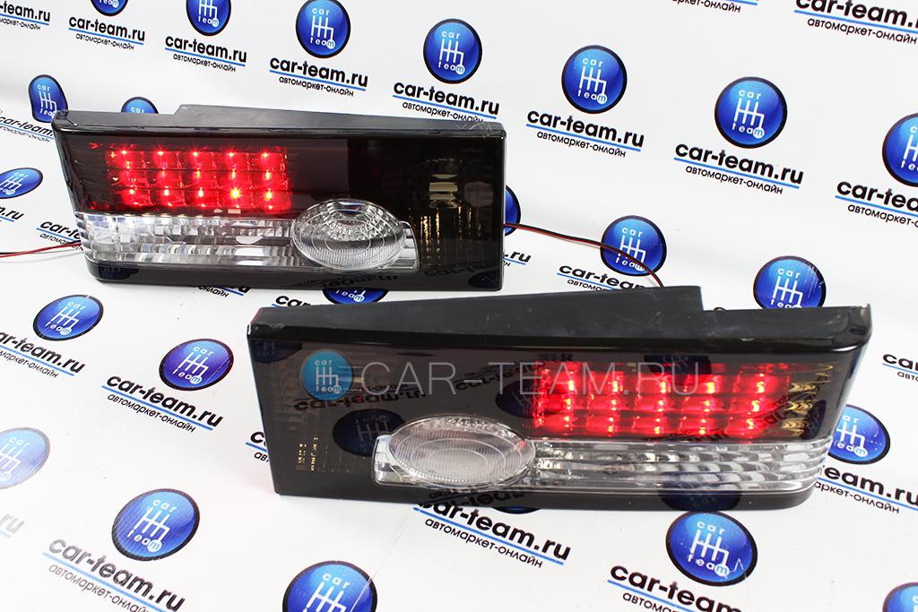 Задние диодные фонари на ВАЗ 2108-09, ВАЗ 2113-14 в стиле Лада Приора 2, черные