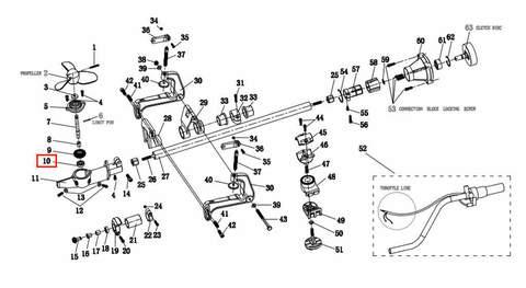 Подшипник опорный 6000 для лодочного мотора T2 SEA-PRO