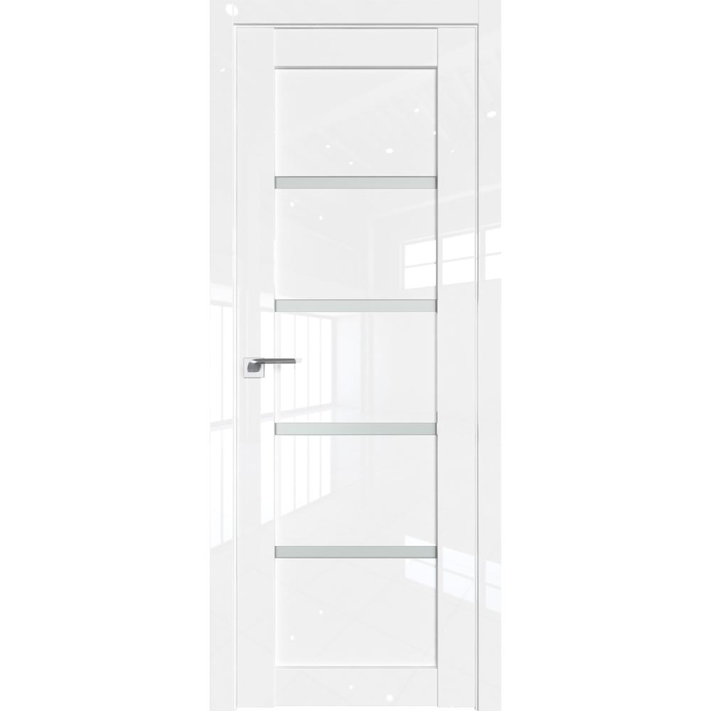 Глянцевые двери Межкомнатная дверь экошпон Profil Doors 2.09L белый люкс стекло матовое 2.09L_Belyy_lyuks_steklo_matovoe.jpg