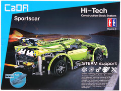 Конструктор Cada Technics, спорткар, 453 деталей, пульт управления - C51007W