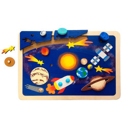 Деревянная мозаика Солнечная система, Крона