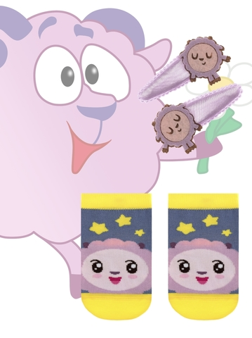 Детские носки Малышарики 17С-26СП (с заколками для волос) рис. 265 Conte Kids