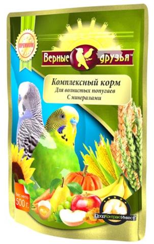 Верные друзья корм для волнистых попугаев 500г