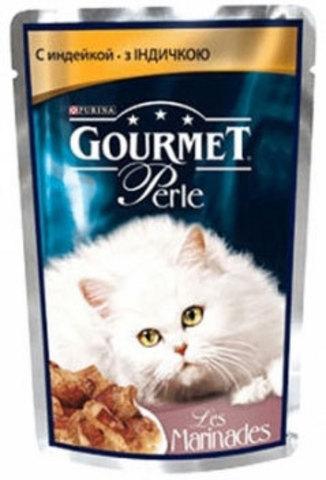 Gourmet Кусочки в маринаде Gourmet Perl с индейкой для кошек 85 г