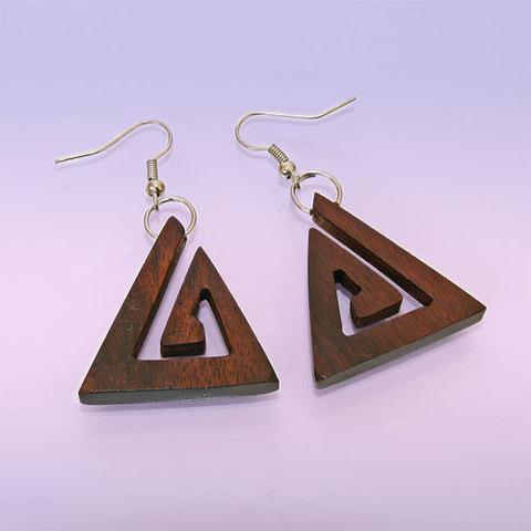 Cерьги Мистический треугольник Дерево