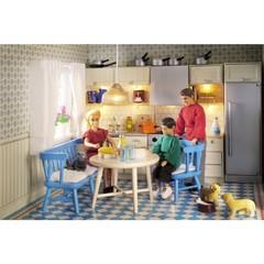 Мебель для домика Смоланд Кухня с холодильником и плитой, Lundby