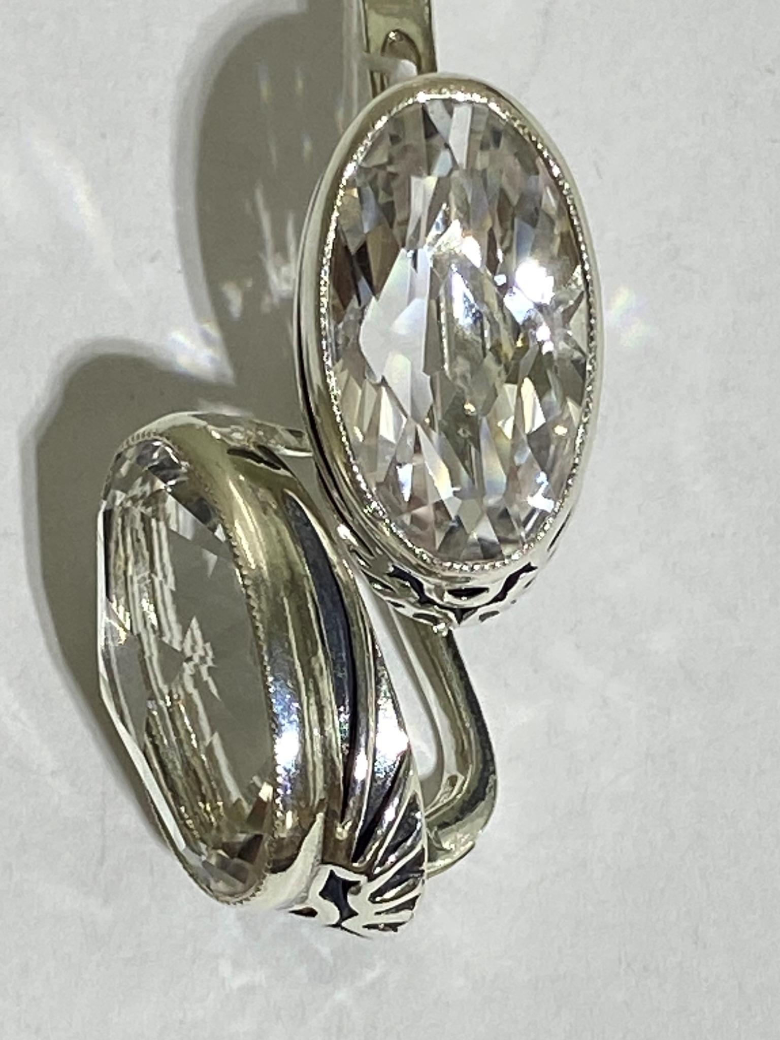 Манон (серьги из серебра)