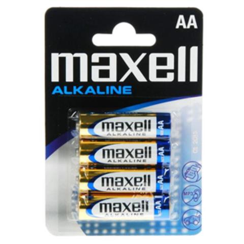 Батарейки Maxell Alkaline LR6, AA (4/48) BL