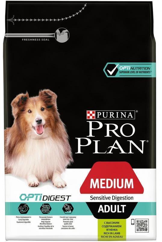 Сухой корм Сухой корм, Purina Pro Plan, для взрослых собак средних пород с чувствительным пищеварением, с ягнёнком и рисом средних_пород_с_чувствительным_пищеварением__ягнёнок.jpg