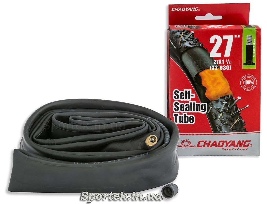Антипрокольная велосипедная камера CHAOYANG 27x1 1/4 (32-630 ISO)