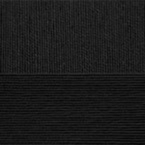 Пряжа Хлопок натуральный (Пехорка) 02 Черный, фото