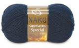 Пряжа Nako Superlambs Special арт. 3088 темно-синий