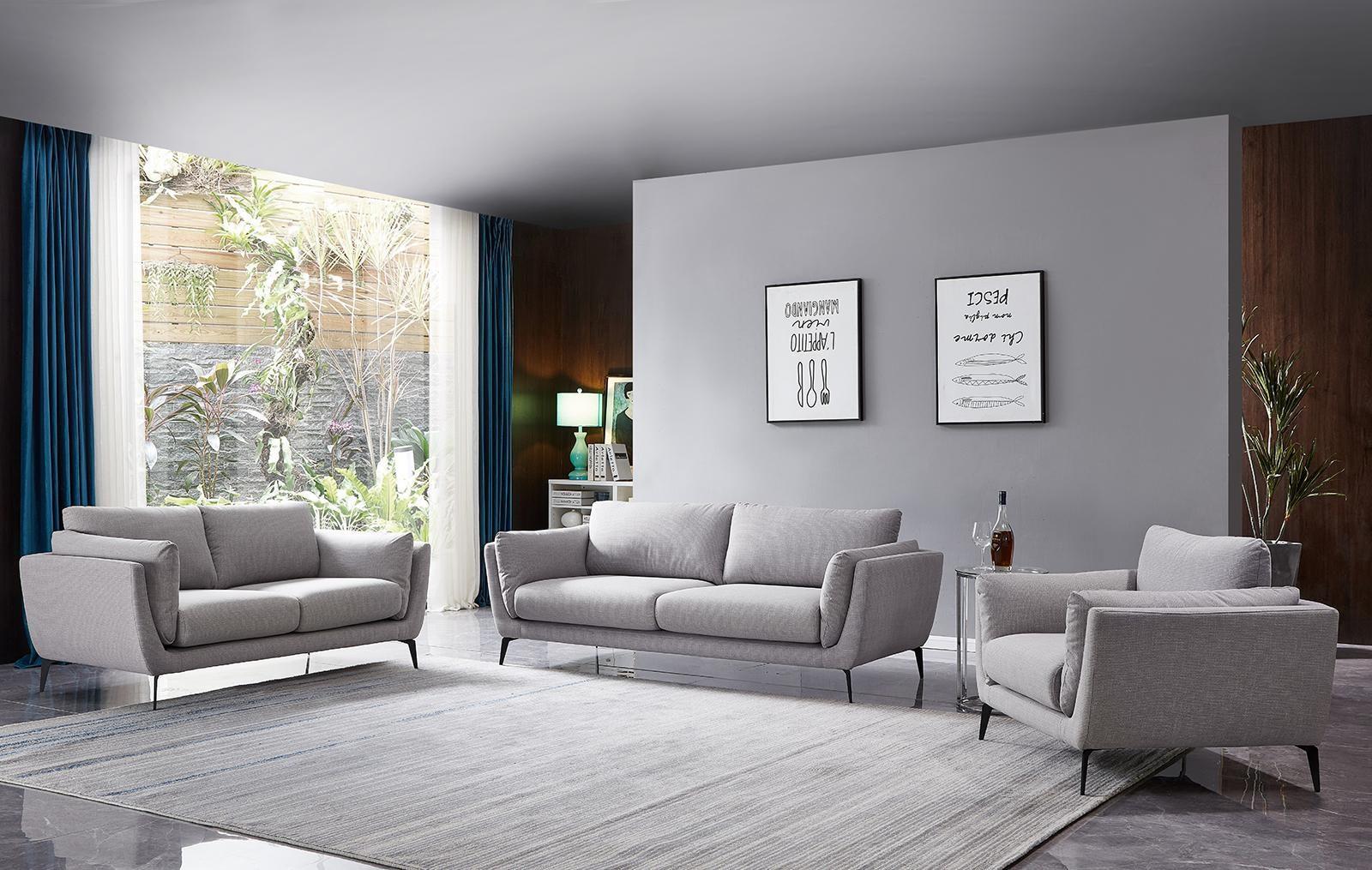 Набор мягкой мебели AMSTERDAM Серый Никель (LARKIN NWB NICKEL)