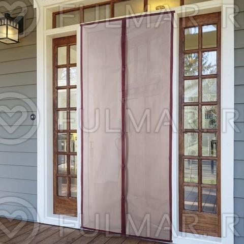 Москитная сетка от комаров на дверь 90x210 см Бордовая