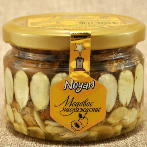 Мед с абрикосовыми косточками и миндалем Noyan, 320г
