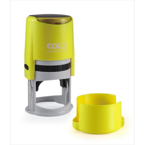 Оснастка для печати круглая Colop Printer R40 Neon 40 мм с крышкой желтая